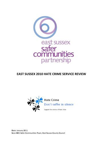 Final 2010 Hate Crime Service Review Report - Safe in East Sussex