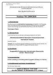Seminar WS 2009/2010 - IIFS