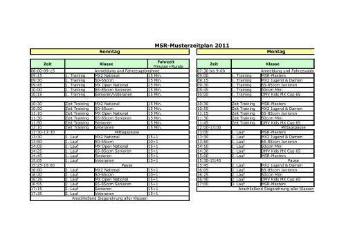 Zeitplan als PDF - Motor Sport Ring