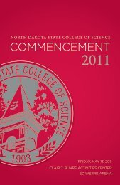 COMMENCEMENT - North Dakota State College  of Science
