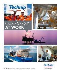 2011 Activity and Sustainable Development Report - Technip