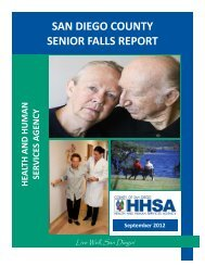 San Diego County Senior Falls Report - County of San Diego
