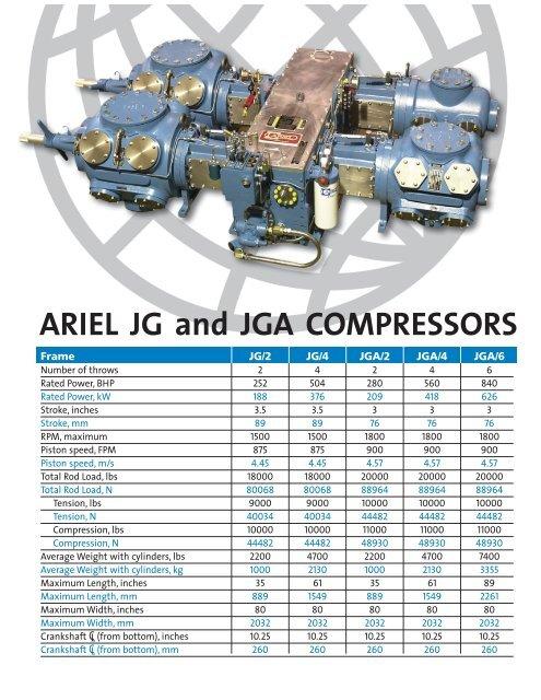 ARIEL JG and JGA COMPRESSORS