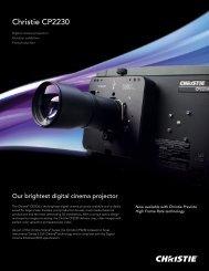 Christie CP2230 Datasheet - Christie Digital Systems