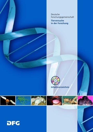 Deutsche Forschungsgemeinschaft Tierversuche in der Forschung ...