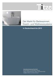 Der Markt für Badewannen, Dusch- und Wellnesssysteme