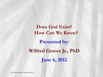 Does God Exist? - Wilfred Graves