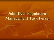Joint Deer Population Management Task Force - Prairie State ...