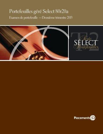 Portefeuilles géré Select 80r20a - CI Investments