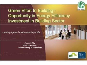 Presented by Rana Yusuf Nasir Director Ra ng & Technology - IESR