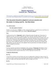 Criminal Law Retainer Letter Precedent - practicePRO.ca