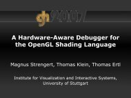 A Hardware-Aware Debugger for the OpenGL Shading Language A ...