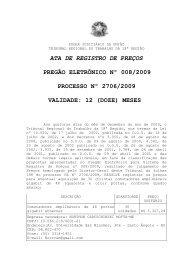 ATA DE REGISTRO DE PREÇOS PREGÃO ELETRÔNICO ... - TRT18
