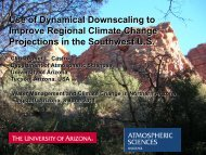 Use of Dynamical Downscaling to Improve Regional Climate ...