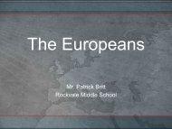 The Europeans ppt - Rockvale Middle School