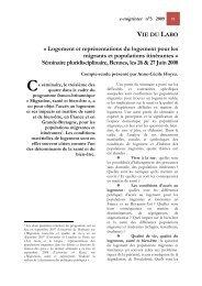 Logement et représentations du logement pour les migrants et ...