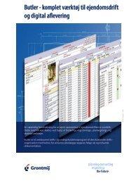 Butler - komplet værktøj til ejendomsdrift og digital aflevering - Grontmij