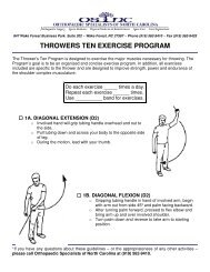throwers ten exercise program - Orthopaedic Specialists of North ...
