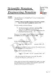 Scientific Notation, Engineering Notation