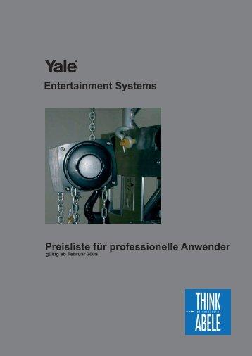 Entertainment Systems Preisliste für professionelle ... - Think Abele