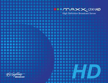 download a pdf for the maxx-1200 hd - 360 Systems