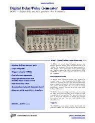 Digital Delay/Pulse Generator - TR instruments