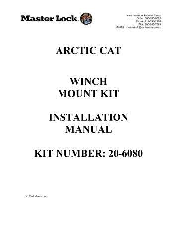 Arctic Cat M7 F7 EFI Install