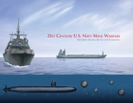 21ST CENTURY U.S. NAVY MINE WARFARE - The US Navy