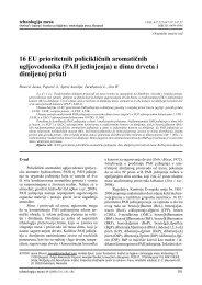 PAH jedinjenja - Institut za higijenu i tehnologiju mesa