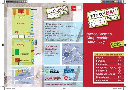 Inklusive Gutschein - hanseBAU