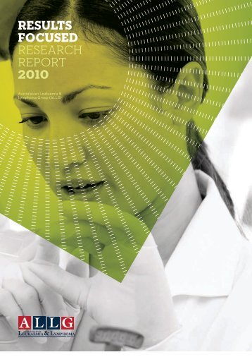Results Focused RESEARCH REPORT 2010 - Peter MacCallum ...