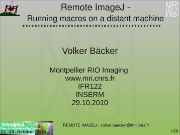 Remote ImageJ - Volker Bäcker