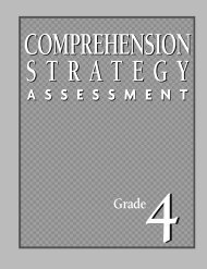 Ongoing Comprehension Strategy Assessment - Benchmark ...
