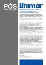 Anatomia Topográfica do Tórax Curso Prático de Dissecação - Unimar