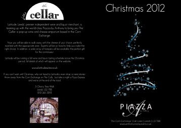 25.09.2012 Christmas Menu for Piazza by Anthony