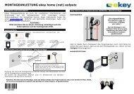 MONTAGEANLEITUNG ekey home (net) aufputz - Antriebe 24