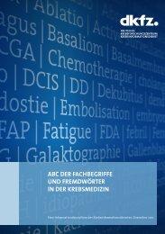 ABC der Fachbegriffe und Fremdwörter in der Krebsmedizin
