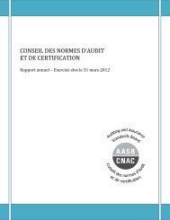 Rapport annuel 2011-2012 du CNAC - Normes d'information ...