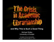Crisis Academic Librarianship - Canadian Library Association