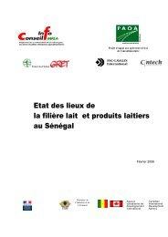 Etat des lieux de la filière lait et produits laitiers au ... - ABC Burkina