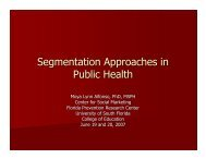 Thurs B - Advanced Audience Segmentation - USF Health ...