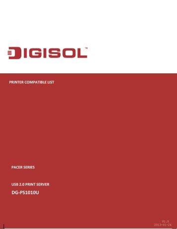 Printer Compatible List - Digisol.com