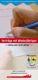 Verträge mit Minderjährigen - Jugendamt der Stadt Nürnberg