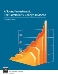 A Sound Investment - American Association of Community Colleges