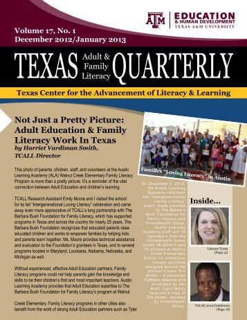 December/January PDF - tcall - Texas A&M University