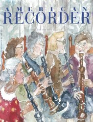 n o v e m b e r 2 0 0 5 - American Recorder Society