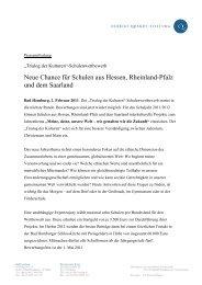Neue Chance für Schulen aus Hessen, Rheinland-Pfalz und dem ...