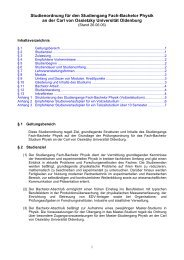 Studienordnung Fach- Bachelor Physik - Institut für Physik ...