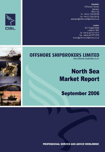 North Sea Market Report September 2006 DRILLING RIGS