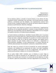 LA FUNCIÓN DIRECTIVA Y EL GESTOR EDUCATIVO Sonia Correa ...